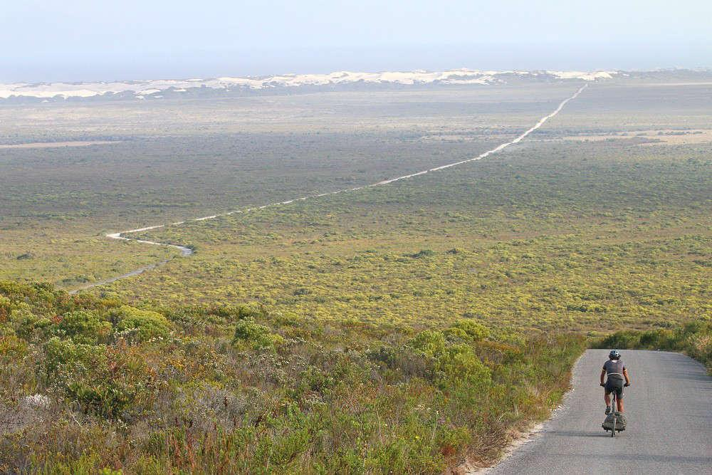 De Hoop nature reserve in bici
