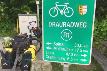 Drau Cycle Path, from Toblach to Maribor by bicycle