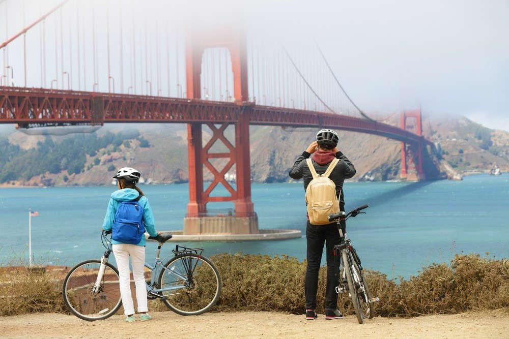 Golden Gate in bici