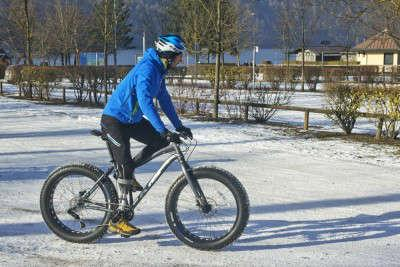 Davide Rossi in fat bike