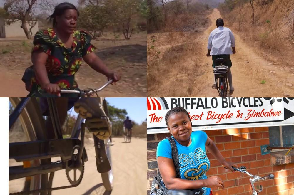 Donne in Africa in bici